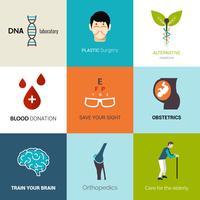 Set di logo medico