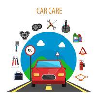 Concetto di servizio auto vettore