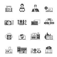Set di icone di servizio computer
