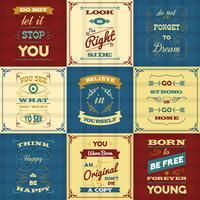 Manifesti di tipografia di slogan vettore