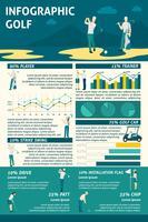 Set di infografica golf vettore