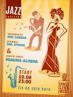Manifesto dell'annata del festival di musica jazz