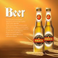 Sfondo di bottiglia di birra