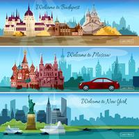 Bandiere delle città famose