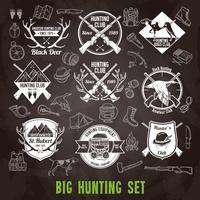 Set di lavagna di caccia vettore