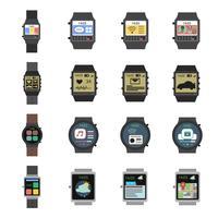 icona orologio intelligente piatta