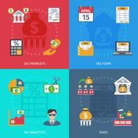 Set piatto fiscale vettore