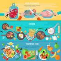 Set di banner piatto di cucina casalinga