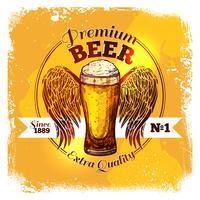 Etichetta di schizzo di birra vettore