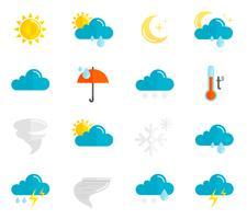 Set piatto di icone meteo