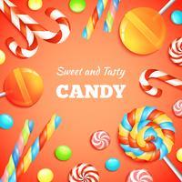 Sfondo di caramelle e caramelle vettore