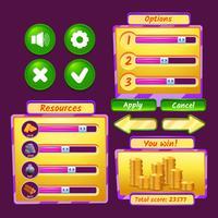 Icone dell'interfaccia di gioco vettore