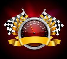 Emblema di gara realistico vettore