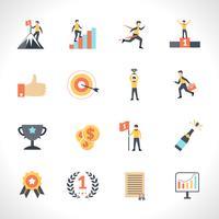 Set di icone di successo vettore