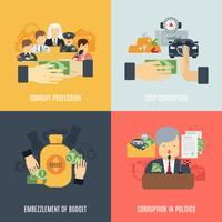 Set di corruzione piatta vettore