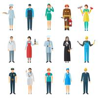 Set di icone di avatar di professione