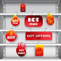 Stampa di wobblers a rack di vendita calda