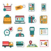 Set di icone icone online