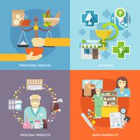 Set di icone di farmacista