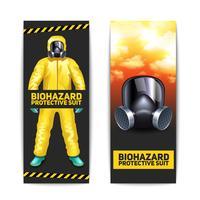 Set di banner Biohazard vettore