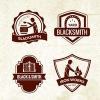 Set di emblemi fabbro vettore