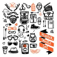 Set di sketch hipster