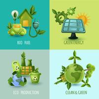 Ecologia Design Concept Set vettore