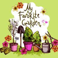 Set da schizzo del giardino