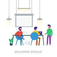 Progettazione concettuale dell'illustrazione dello specialista di sviluppo
