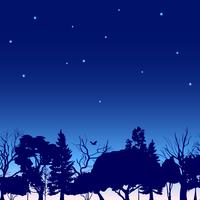 Schizzo di alberi del confine forestale