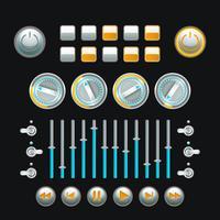 Set di pulsanti colorati vettore