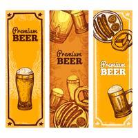 Banner verticale di birra vettore