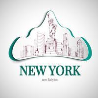 Emblema di New York City vettore