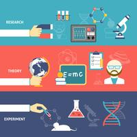 Set di banner di teoria della scienza