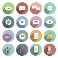 Icona della chat Ombra piatta vettore