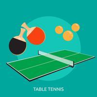 Progettazione concettuale dell'illustrazione di ping-pong vettore