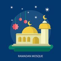 Progettazione dell'illustrazione concettuale della moschea di Ramadhan
