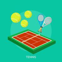 Tennis Design illustrazione concettuale vettore