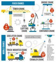 Infographics di attrezzature di sollevamento vettore