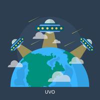 Progettazione concettuale dell'illustrazione di Ufo vettore