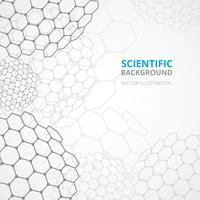 Stampa modello di sfondo scienza vettore