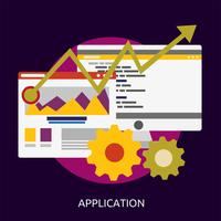 Progettazione concettuale dell'illustrazione di sviluppo di applicazione SEO