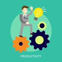 Progettazione concettuale dell'illustrazione di produttività