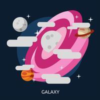 Galassia design illustrazione concettuale