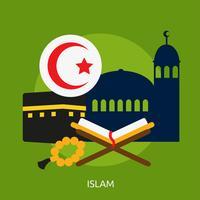 Disegno dell'illustrazione concettuale di Islam