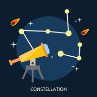 progettazione dell'illustrazione concettuale della costellazione
