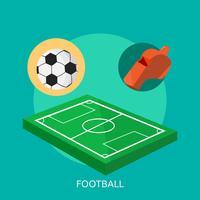 Disegno concettuale dell'illustrazione di calcio vettore