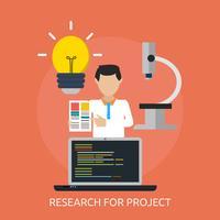 Progettazione dell'illustrazione concettuale del progetto di ricerca