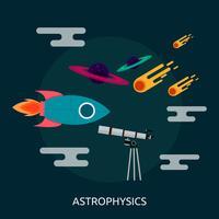 Disegno concettuale dell'illustrazione di astrofisica vettore