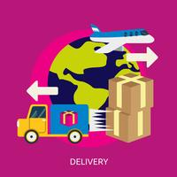 Progettazione dell'illustrazione concettuale di consegna